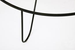 "Mathieu Mategot's ""Bellevue"" table, detailed view of metal frame"