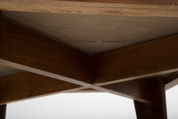 Pierre Jeanneret's square table, detailed view of underneath table