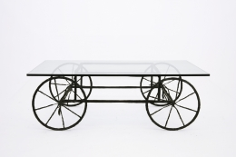Louis Cane coffee table, full straight view
