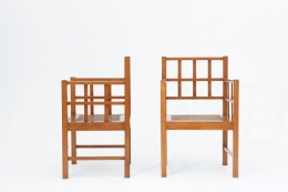 Francis Jourdain's pair of armchairs side and front view