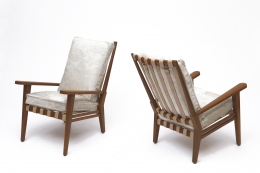 Jacques Adnet's armchair side views