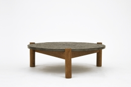 Charlotte Perriand's slate coffee table, full straight view