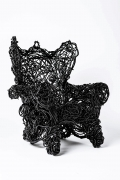 Forrest Myers' Wingback chair, full diagonal view