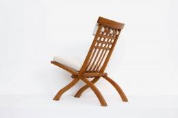 Robert Mallet-Stevens' foldable chair, full diagonal back view