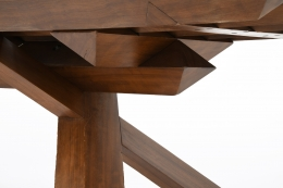 Dominique Zimbacca's unique sculptural table, detailed view below showing the legs