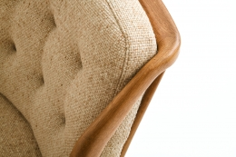 Guillerme et Chambron's sofa, detailed view of upholstery