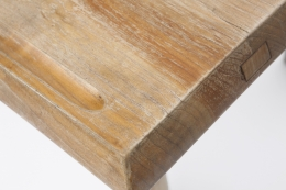 Charlotte Perriand's dining table, detailed view of corner showing groove