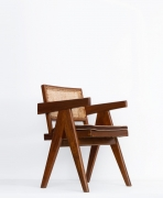 Pierre Jeanneret's Desk chair diagonal front view