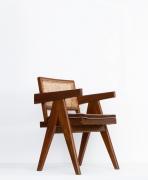 Pierre Jeanneret's Desk chair diagonal front view