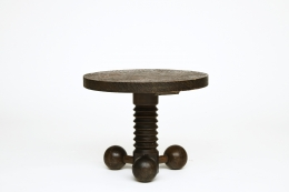 Charles Dudouyt's pedestal table, straight front view