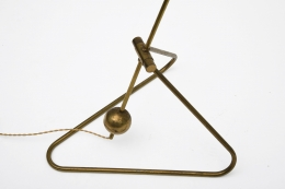 Robert Mathieu's floor lamp, detailed view of metal base
