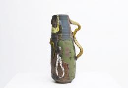 Roger Herman's ceramic vase back view