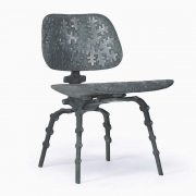"Terence Main's ""My Eames is True"" sculptural side chair side diagonal view"