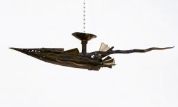 Michel Kiriliuk's sculptural ceiling lamp, full view