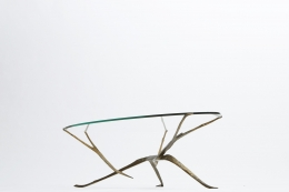 Felix Agostini's coffee table view from under