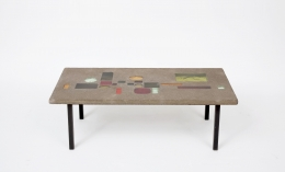 Jacques Avoinet's coffee table higher view