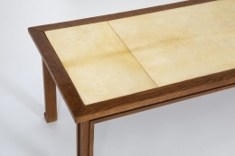 Jacques Adnet's coffee table, close up of table top