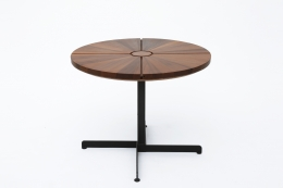 """Charlotte Perriand's """"Soleil"""" adjustable table, full view from above"""