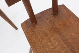 Marolles' set of 4 chairs detailed view of seat