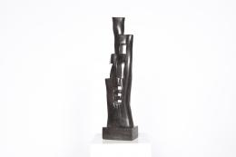 Alexandre Noll's ebony sculpture, front view