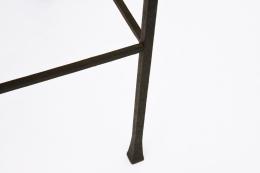 Marolles' chair detailed view of metal leg