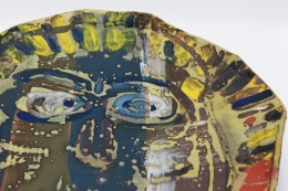 Roger Herman's ceramic plate detailed view
