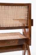 "Pierre Jeanneret's ""Classroom"" chair, detailed view of the back"