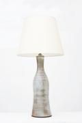 Jeanne & Norbert Pierlot's ceramic table lamp full straight view