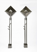 Magnousson's pair of floor lamps, front view