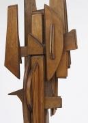 Ricardo Santamaria large wooden sculpture, detailed view