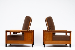 Jean Burkhalter's pair of armchairs side views