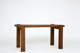Unknown artist's table, diagonal view