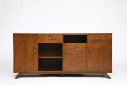 Pierre Jeanneret's sideboard, full straight view