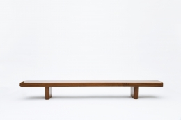 French 1950's bench straight eye-level view