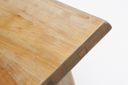Charlotte Perriand's dining table, detailed view of corner