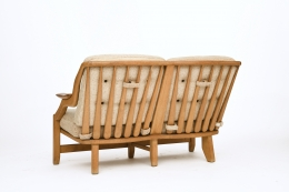 Guillerme et Chambron's sofa, back diagonal view