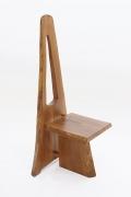 Dominique Zimbacca's tripod chair, full diagonal view