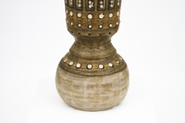 Georges Pelletier's ceramic table lamp, detailed view of base