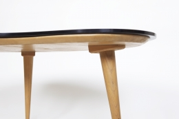 Jean Royère's free form coffee table, detailed image of legs from below
