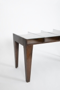 Pierre Jeanneret's console, cropped view of side of the table from above
