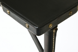 Jacques Adnet's table, detailed view of corner