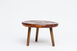Juliette Derel's ceramic coffee table straight view