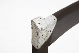 Pierre Jeanneret's set of 8 demountable chairs detailed view of aluminum corner on back of chair
