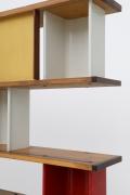 """Charlotte Perriand's """"Bibliothéque de la Maison de Tunisie"""" bookcase, detailed view of shelving"""