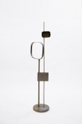 Alain Douillard's metal sculpture, full view