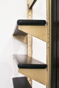 """Charlotte Perriand and Jean Prouvé's """"Afrique"""" room divider from Air France Building, Brazzaville, Congo, detailed view of shelving"""