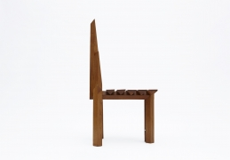 "Dominique Zimbacca's ""Sculpture"" chair, full side view"