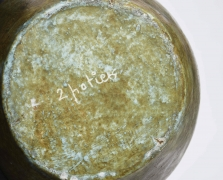 Les 2 Potiers' ceramic vase detailed view of signature underneath