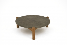 Charlotte Perriand's slate coffee table, full view from above