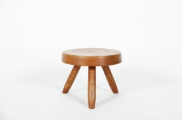 Charlotte Perriand's low stool, full front view